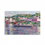 Maximilien Luce Bas-meudon, The Barge On The River puzzle, 1000 Piece Wooden Fun Jigsaw,Apply toAnniversary 75cm X 50cm