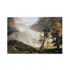 Thomas Fearnley Grindelwald Glacier (2) puzzle, 1000 Piece Wooden Fun Jigsaw,Apply toFamily 75cm X 50cm