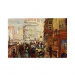 Unknown Painter A Working Day In Paris puzzle, 1000 Piece Wooden Fun Jigsaw,Apply toAnniversary 75cm X 50cm