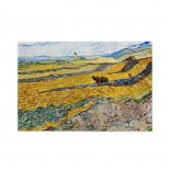 Vincent Van Gogh Enclosed Field With Ploughman (2) puzzle, 1000 Piece Wooden Fun Jigsaw,Apply toFamily 75cm X 50cm