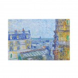 Vincent Van Gogh View From Theo's Apartment puzzle, 1000 Piece Wooden Fun Jigsaw,Apply toAnniversary 75cm X 50cm