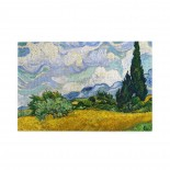 Vincent Van Gogh Wheat Field With Cypresses puzzle, 1000 Piece Wooden Fun Jigsaw,Apply toKids as Birthday 75cm X 50cm